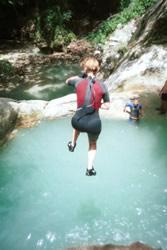 canyoning in the Dominican Republic